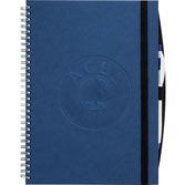 blue twin wire hardcover journal
