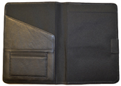 Black Stitched Leather Journal Interior