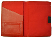 Red Stitched Leather Journal Interior