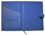 Blue Premium Refillable Leather Cover