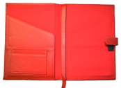 Red Premium Refillable Leather Cover