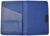 Blue Stitched Leather Journal Interior